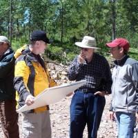 Bear Lodge: from L to R - Mike Richardson, (Engineer - John T. Boyd & Co), Jim Clarke (VP Exploration), Jack Lifton & Mark Brown (CFO).