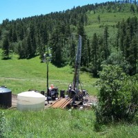 Bear Lodge: the drill at the bottom of Bull Hill.