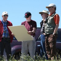Bear Lodge: L-R - Don Ranta (President & CEO), Jim Clarke (VP Exploration), Jack Lifton & Mike Richardson (Engineer - John T. Boyd & Co).