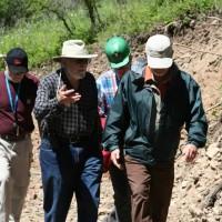 Bear Lodge: L-R – Jim Clarke (VP Exploration), Jack Lifton, Don Ranta (President & CEO) & Mike Richardson (Engineer – John T. Boyd & Co).