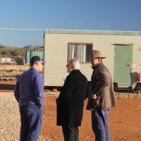Richard Brescianini (l), Jack Lifton (m) & Kelvin Hussey (r) at the Nolans Project, Northern Territory, Australia.