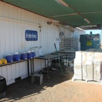 """The on-site sample prep """"lab-in-a-container"""", run by Intertek Minerals Services, at the Nolans Rare-Earth Project, Northern Territory, Australia."""