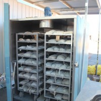 Mineral samples are dried at 120 degrees C for 12 hours, prior to crushing, at the Nolans Rare-Earth Project, Northern Territory, Australia.