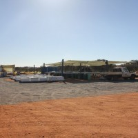 The core shack at the Nolans Project, Northern Territory, Australia.