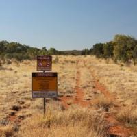 Pipeline near to Nolans Bore rare-earth deposit, Northern Territory, Australia.