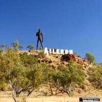 Anmatyerr Man - Aileron Roadhouse, Northern Territory, Australia
